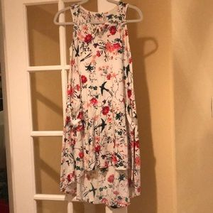Old Navy Hi Lo Dress Birds and Flowers